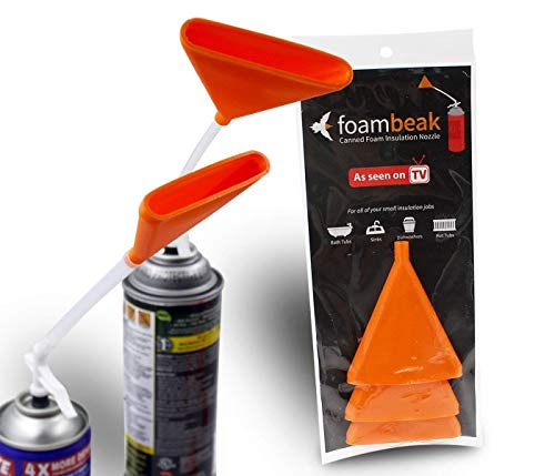 Foambeak Vertical Nozzle For Expanding Foam Insulation   A Spray Foam Insulation Can Nozzle That Widens Insulation Foam Up To 3 Inches. Perfect For Drywall Spray, Foam Spray, Insulation Spray (3 Pack)