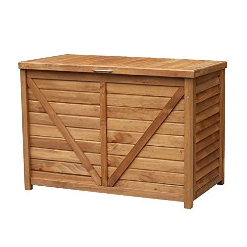 Gartenschrank Outdoor-Speicher-Schließfach Regendicht Sunproof Massivholz Locker Sundries Aufbewahrungsbox for Balkon Garten Hof Aufbewahrungsbox für den Außenbereich: Bewahren SI