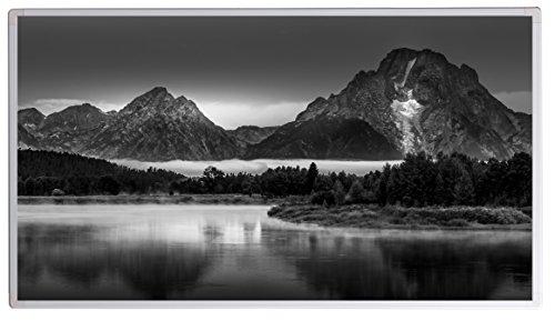 Könighaus Bildheizung (Infrarotheizung mit hochauflösendem Motiv) 5 Jahre Garantie (800-Grand Teton Landscape Oxbow Bend)