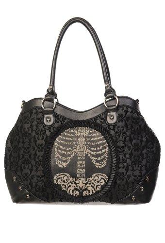 Banned Alternative Wear BBN-758, Borsa a mano donna nero nero 40x25x10cm