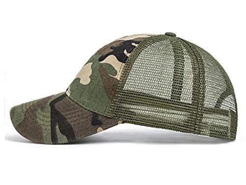 lbinceGorra de béisbol Hombres Gorros de CamuflajeSombrero de Verano Hombres Gorra Militar CamioneroHip Hop Sombrero de papá, c
