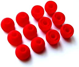 12pcs Medium RED Replacement Tips Compatible with Monster Dr Dre Tour Powerbeats urBeats 2 Heartbeats 2 DiddyBeats Turbine Pro Gratitude DNA VEKTR iSport Victory Immersion Inspiration ClarityMobile