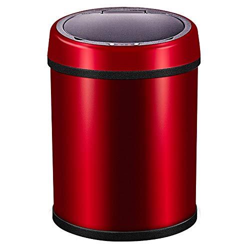 XHHWZB Bote de Basura Inteligente 6L - Cucharón de Almacenamiento doméstico Creativo, con tirón automático eléctrico (Color : Rojo)