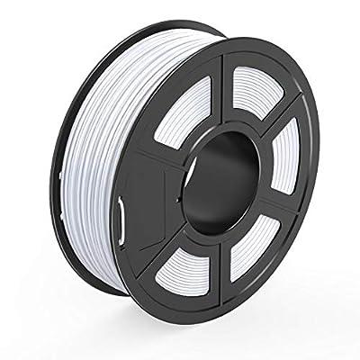 TECBEARS PETG 3D Printer Filament 1.75mm White, Dimensional Accuracy +/- 0.02 mm, 1 Kg Spool, Pack of 1
