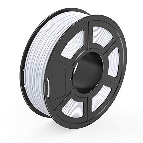 TECBEARS Filamento PETG per Stampante 3D Bianca 1.75mm, Precisione Dimensionale +/- 0.02mm, Bobina da 1KG Ogni, 1 Pacco