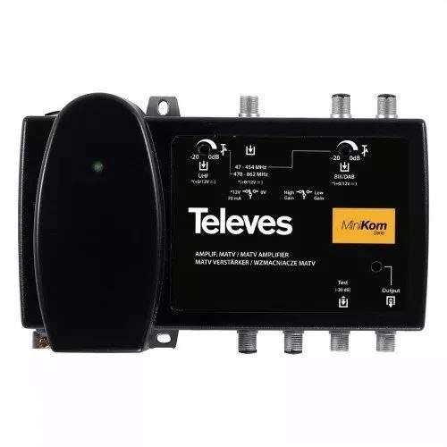 Televes 537302 - Amplificador minikom matv 1e/1s 47-454/470/862