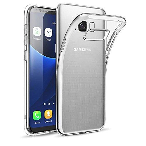 wsiiroon Hülle Kompatibel mit Samsung Galaxy S8, Handyhülle Kompatibel mit Galaxy S8 [Crystal Clear] Soft Flex Silikon,Transparent Durchsichtig Silikonhülle [Ultra Dünn] Klar Weiche TPU Schutzhülle