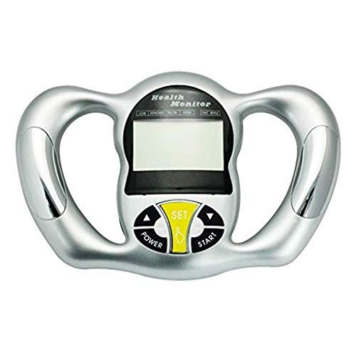 YHNUJMIK Electronic Body Fat Instrumento de medición, Monitor de Grasa Corporal de Mano Índice de Masa Corporal con analizador de Pantalla LCD probador (Astilla)