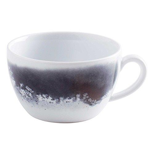 Kahla Pronto Cappuccino Obertasse, Kaffeetasse, Tasse, Henkeltasse, Geschirr, Salt Made, Schwarz/Weiß, 250 ml, Lisa Keller, 204708A50413C