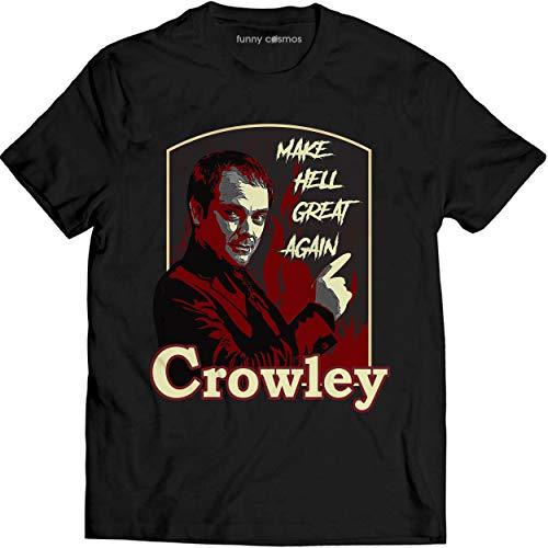 Crowley Make Hell Great Again Shirt Supernatural Lovers Movie T Shirt Men T-Shirt (L, Black)
