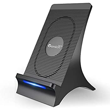 VersionTECH Wireless Charger with Cooling Fan Qi-Certified 15W Max Wireless Fast Charging Stand Compatible with iPhone 12 Mini Pro Max SE 11 XS Max XR X 8 Plus Galaxy Note 20 10 9 8 S20 10 9 Plus