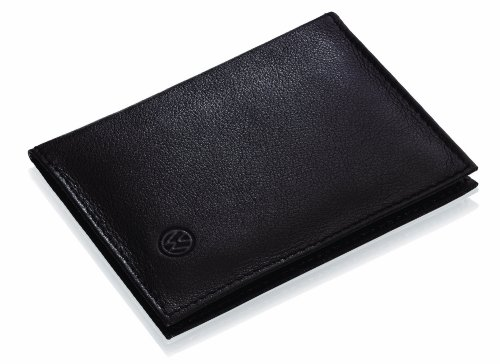 Original 000087404C VW Dokumenten-Mappe Fahrzeugschein Dokumenten-Mappe Schwarz, Leder Tasche für Zulassungsbescheinigung Teil I