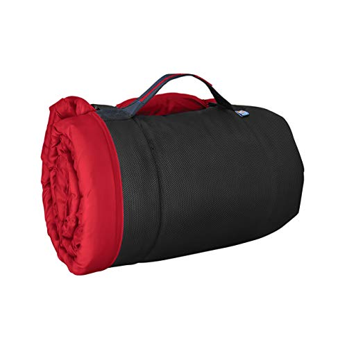 Kurgo Waterproof Dog Bed, Outdoor Bed for Dogs |Portable Bed Roll for Pets, Travel |Hiking, Camping, Wander Loft Dog Bed |Chili Red (Medium)