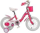 MGE Bicicletas de Balance de los niños, Bicicletas niños y niñas de 3-8 Años de Edad Princesa de Bicicletas de 14 Pulgadas Pedal Cesta Deportes al Aire Libre de la Bicicleta