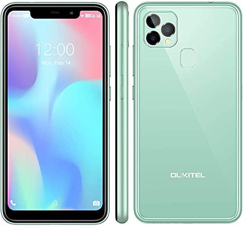OUKITEL C22 - Smartphone libre (2021), 128 GB + 4 GB, Android 10 con 256 GB ampliable, pantalla de 5,86 pulgadas, 4000 mAh de identificación facial + huella dactilar GSM 4G LTE Dual SIM)