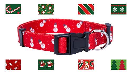 Native Pup Christmas Dog Collar (Small, Snowmen)