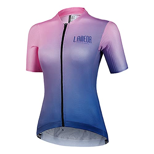 LAMEDA Maillot Ciclismo Mujer Verano Camiseta Ciclista Bicicleta Carretera Jersey Bici Transpirable Secado Rápido Reflectante