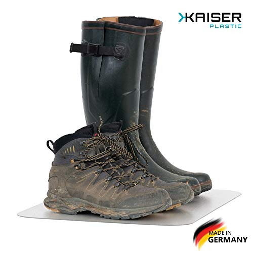 KAISER PLASTIC® Schuhmatte | 60 x 80 cm | Made-In-Germany | Schuhabtropfmatte | Transparent