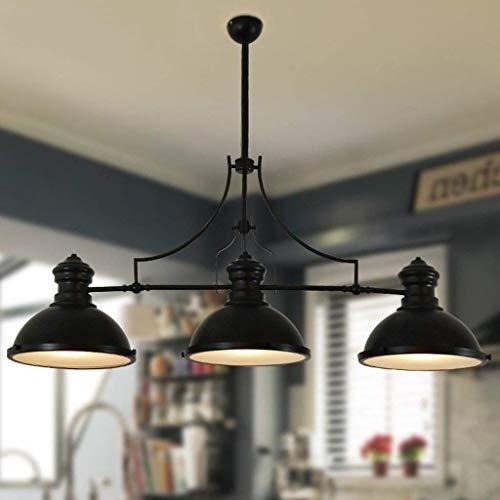 FWZJ Candelabros de Mesa de Tres Cabezas Black Eight Snooker, Lámpara Colgante LED de Hierro Forjado con Personalidad Creativa A + (Color: Negro)