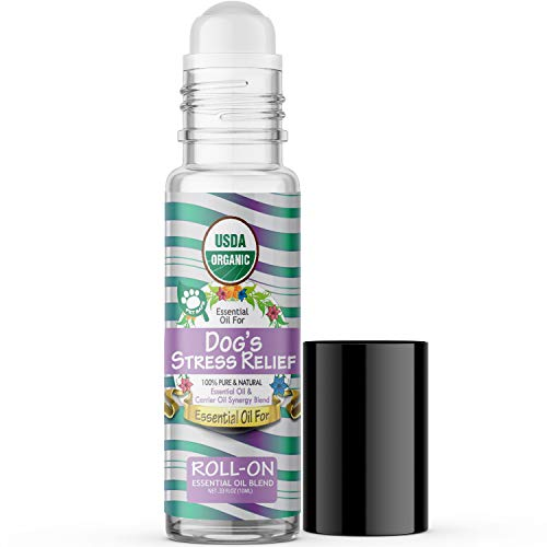 Essential Oil for Dogs Stress Relief (USDA Organic - 100%...