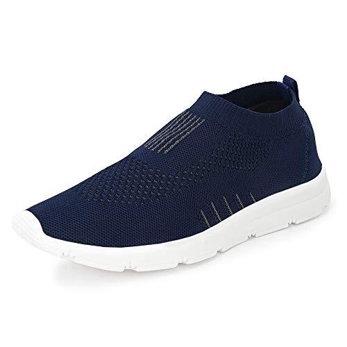 Bourge Men's Vega-5 Navy Running Shoes-2 UK ((Vega-5-02))