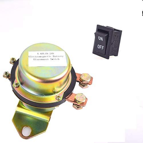 CoCar Auto Kfz LKW 24V Elektromagnetisch Trenner Batteriehauptschalter Dash Button Control Magnetspule Stromunterbrecher Hauptstromschalter Hauptschalter Batterieschalter