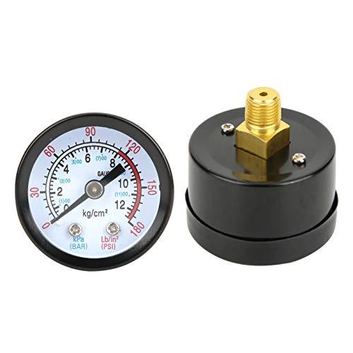 Niiyen Manómetro para compresor de Aire, medidor de presión para Instrumentos de Carcasa de Hierro Y40, Adecuado para compresores de Tornillo, compresores de pistón