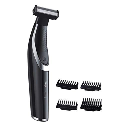 XINAO Los hombres de aseo kit de afeitadora eléctrica recortadora de pelo barba eléctrica maquinilla de afeitar facial cuerpo cuello máquina de afeitar usb recargable potente