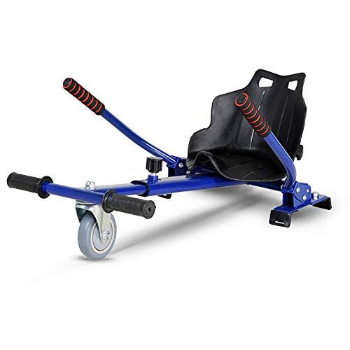 MILECN Cool Mini Kart Accesorios Hoverboard para Ajustable - Todas Las Alturas - Todas Las Edades- Scooter Autoequilibrado - Compatible con Todos Los Hoverboards,Azul