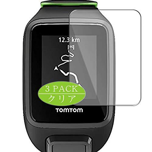 Vaxson 3 Stück Schutzfolie kompatibel mit Tomtom Runner 3 Cardio, Displayschutzfolie Bildschirmschutz Blasenfreies [nicht Panzerglas]
