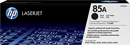 HP 85A CE285A Cartuccia Toner Originale, Compatibile con Stampanti P1102, P1102w, M1132 MFP, M1212 MFP, M1210, M1217nfw, M1212nf MFP, Nero