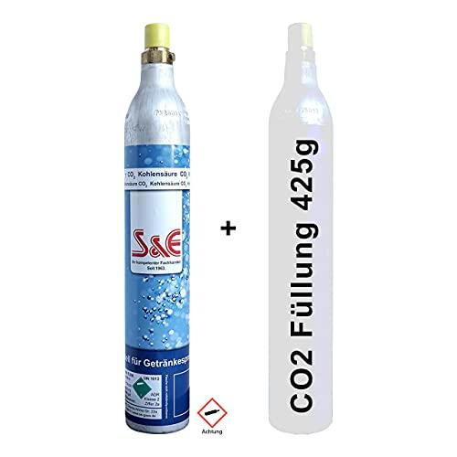CAGO CO2-Zylinder für 60l Sprudel-Wasser - Nachfüll-Flasche kompatibel mit Soda-Stream & anderen Wasser-Sprudlern - Kohlendioxid-Flasche - Kartusche