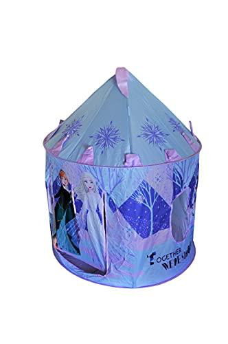 Tienda de Campaña para niñas Frozen, Carpa de Palacio de Frozen, Juguetes Exterior e Interior De Anna y Elsa Frozen, 126 X 105 X 80 CM