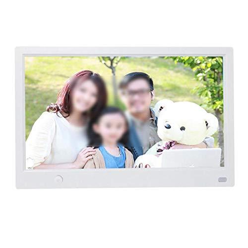 Digitaal gedecoreerde fotolijst voor thuis, 11,6 inch HD digitale fotolijst met bewegingssensor, multifunctionele fotolijst voor audiospeler, huwelijksgeschenk, feest, verjaardag (EU wit)