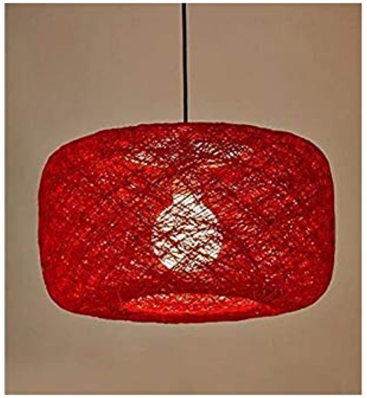 Led Unterbauleuchte Lichtleiste Deckenlampependelleuchte Kronleuchter Restaurant Licht Retro Kunst Bar Stricken Rattan Kunst Rot 40  22Cm