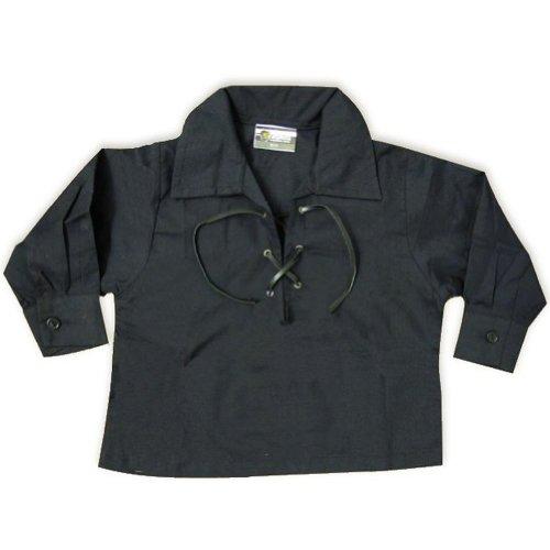Tartanista - Baby Jakobiter-/Ghillie-Hemd - 50-74 cm Brustumfang - Schwarz - Brust: 50 cm