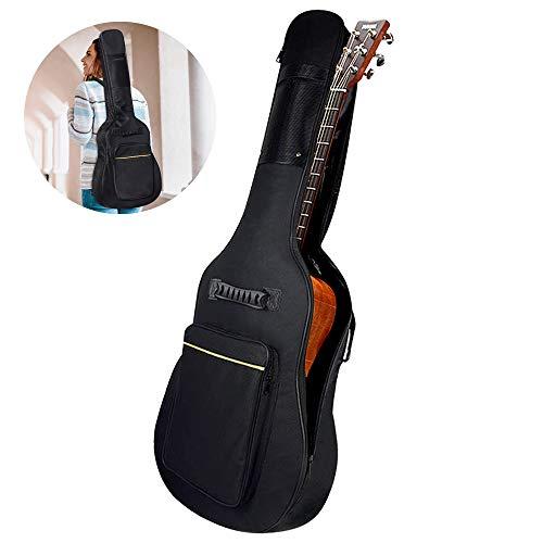 Gitarrentasche , otumixx 600D Oxford Guitar Bag Verdicken Padded Wasserdicht stoßfest Gitarre Tasche mit Verbreiterter Verstellbarer Gurt für 40/41 Zoll Akustik Gitarre und Klassikgitarren - Schwarz