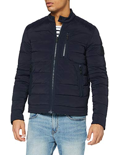 Calvin Klein Quilted Padded Moto Jacket Chaqueta, Cielo Nocturno, XL para Hombre