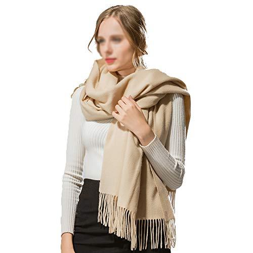 TIANPIN Cashmere Wrap sjaal grote super zachte Pashmina sjaal Wrap effen kleur sjaal 100% puur kasjmier sjaal warme dikke winter