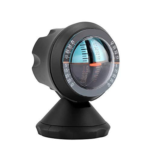 Oumefar Car Vehicle Inclinometer Rotatable 360 Degree Slope Indicator Meter Level Tilt Gauge Road Safety Instrument with Adhesive
