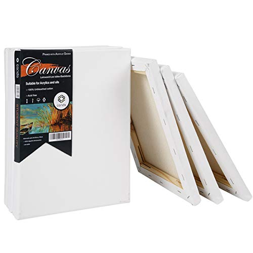 conda Artist Acid Free Stretched Canvas 8 X10 10 Pack 5/8 inch Professional Quality Frame Canvas