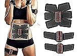 YOUBO EMS Abs Trainer Muskelstimulator, Bauchmuskel Gewichtstraining Toning AB Gürtel mit 6 Modi &...
