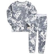 VAENAIT BABY 12M-12 Toddler Kids Boys Girls 100% Cotton Marbling Snug Fit Sleepwear Pajamas 2pcs Pjs Set