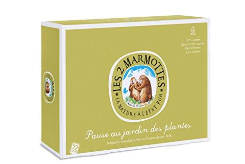 Les 2 Marmottes Coffret Pause Au Jardin Des Plantes - A Partager Sans Modération Avec Ses Collègues ! 5 Infusions - Bien-Être Et Nature - 72 Sachets - Made In France