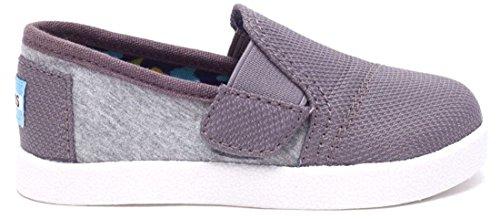 Toms Classic Avalon Grey Jersey Mesh Tiny Velcro Espadrilles Shoes-8