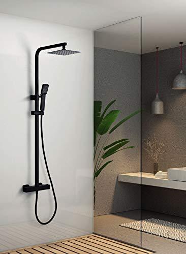 Conjunto ducha termostatica Imex Vigo Negro BTV013-NG