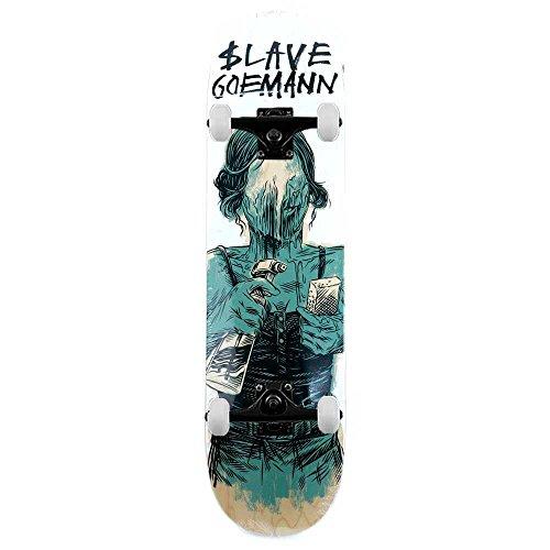 Slave Jon Goemann skateboard identità crisi skateboard completo multi 21cm