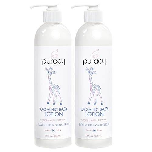 Puracy Organic Baby Lotion, Calming Natural Lavender &...