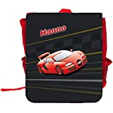 Kinder-Rucksack mit Namen Hanno und schönem Racing-Motiv | Rucksack | Backpack