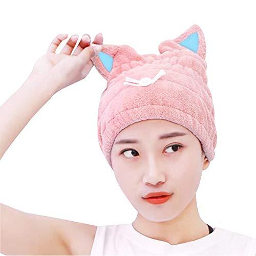WFF sombrero Pelo de microfibra Rápido secado toalla envoltura para mujeres adultos...
